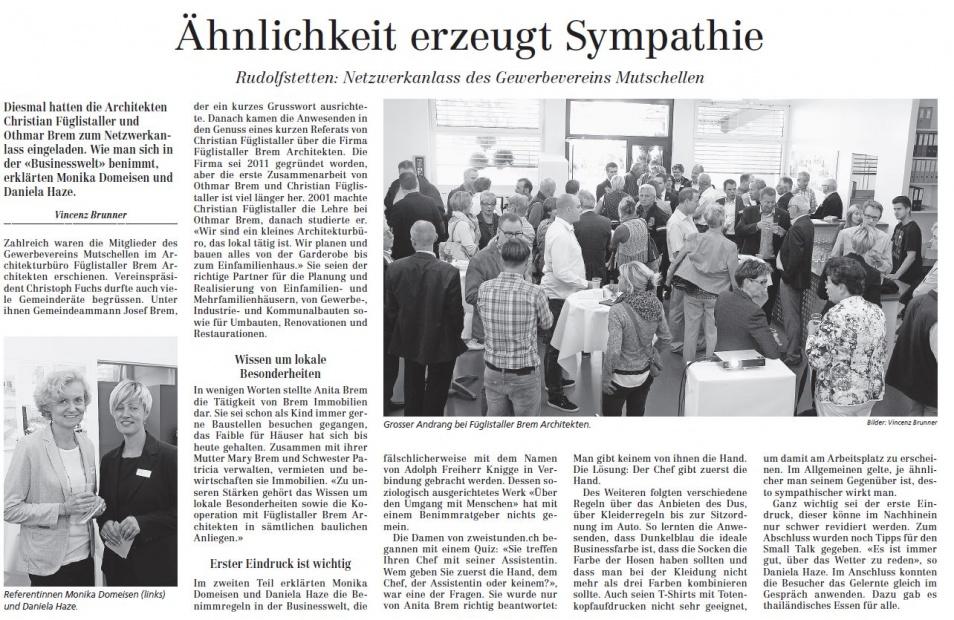 Presse und Medien – Bremgartner Bezirksanzeiger